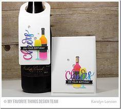 Uncorked Stamp Set, Wine Tag Die-namics, Wine Service Die-namics, Cheers Die-namics, Blueprints 15 Die-namics, Blueprints 28 Die-namics, Confetti Background - Karolyn Loncon  #mftstamps
