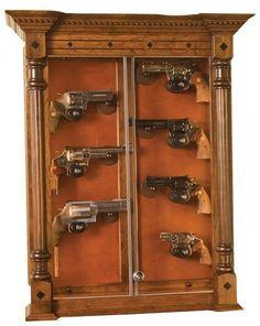 Wall Display Antique Guns Pistol With Base 8 Gun Angle