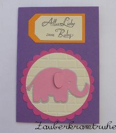 Babykarte Elefant für Mädchen von Zauberkramtruhe auf DaWanda.com
