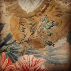 """Beautiful detail in this art piece of J. Van Strieland, a new addition to Museum Weesp.  #art #museum #weesp #flower #detail"""