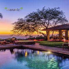 """Mauna Kea Fairways.  Waimea.  Big Island.  Exterior Architectural Photography by PanaViz.  #panaviz #resortphotography #hotelphotography"