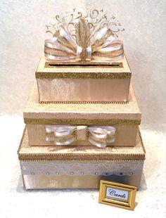 Vegas Weddings, Gold Weddings, Rustic Weddings, Gift Table Wedding, Card Box Wedding, Wedding Gifts, Paris Birthday, 50th Birthday, Sweet 16 Centerpieces