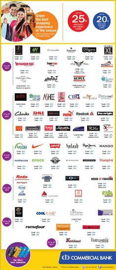 Best Shopping Offers 2016 for Festival Season Up to 25% Savings Enjoy the best shopping experience in the new year festival season with combank credit cards and