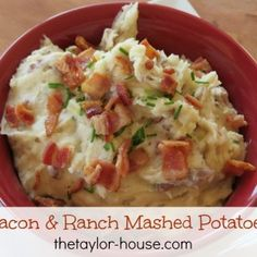 10 delicious crockpot recipes including Bacon Ranch Mashed Potatoes