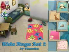 Sims 4 CC's - The Best: Kids Rugs by Thamira