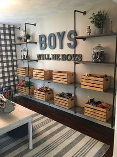 Mindfully creating a kid space Toy Room Storage, Toy Storage Shelves, Playroom Shelves, Toy Room Organization, Shelving For Kids Room, Storage For Toys, Office Storage Ideas, Storage Room Ideas, Toy Storage Furniture