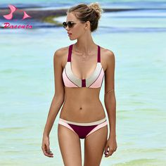 d8bd50c360c25 Aliexpress.com : Buy NIDALEE 2017 Hot Sale High Quality Women Sexy 3 color  Patchwork Bikini Set Halter Bathing Suits Swim Wear Push Up Bikini from  Reliable ...