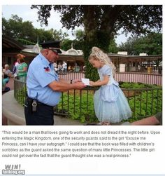 One of the many reasons why I love Disney World. Yeah, that's adorable.
