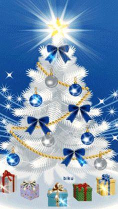 Christmas gif`s animated pictures. If you like it - pin it for later ! Christmas Tree Gif, Christmas Scenes, Blue Christmas, Christmas Pictures, Christmas Greetings, Winter Christmas, Christmas Holidays, Christmas Crafts, Christmas Bulbs