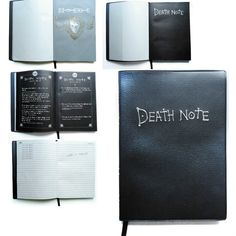 Buy Death Note Notebook Feather Pen Diary Stationery Notebook Deathnote at Wish - Shopping Made Fun Death Note Light, L Death Note, Death Note Notebook, Death Note Fanart, Death Note Cosplay, Anime Crafts, Anime Merchandise, Otaku Anime, Journal Diary