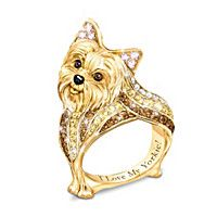 Yorkie Best In Show Sculpted Women s Ring Cute Puppies a78c96f27d