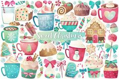 Watercolor Christmas Treats & Sweets by Kenna Sato Designs on @creativemarket