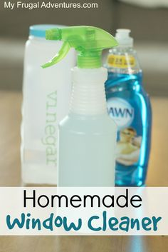 How to make a homemade window cleaning spray