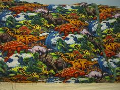 Realistic Dinosaurs/matching cuff/pillowcase by FloridaFriends on Etsy