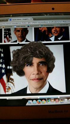 Lol put makeup on Barack Obama using YouCam Makeup XD