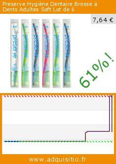 Preserve Hygiène Dentaire Brosse à Dents Adultes Soft Lot de 6 (Beauté et hygiène). Réduction de 61%! Prix actuel 7,64 €, l'ancien prix était de 19,66 €. http://www.adquisitio.fr/preserve/hygi%C3%A8ne-dentaire-brosse