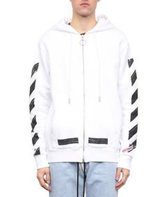 OFF-WHITE Diagonal Brushed cotton hoodie. #off-white #cloth #