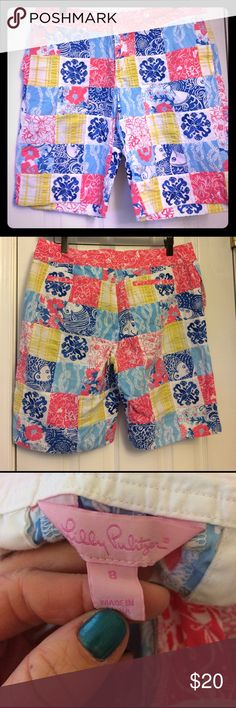 Lilly size 8 shorts Lilly Pulitzer size 8 Bermuda shorts. Excellent condition. Bundle for discount- I have a bunch of shorts & Lilly listed!! 🍀🍀❤ Lilly Pulitzer Shorts Bermudas