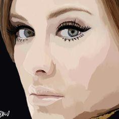 Retrato Photoshop    Adele