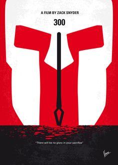 300 (2006) ~ Minimal Movie Poster by Chungkong #amusementphile