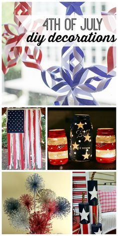 Patriotic DIY of July decorations for your home. Great crafts, a of July wreath and other fun ideas to decorate your home or get ready for your of July party. 4. Juli Party, 4th Of July Party, Fourth Of July, 4th Of July Wreath, Patriotic Crafts, July Crafts, Holiday Crafts, Holiday Fun, Holiday Ideas