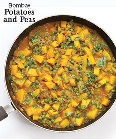 Vegan Richa's Bombay Potatoes and Peas, vegan and gluten-free