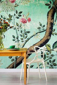 tapete muster florale elemente frisch