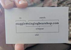 The back of this business card