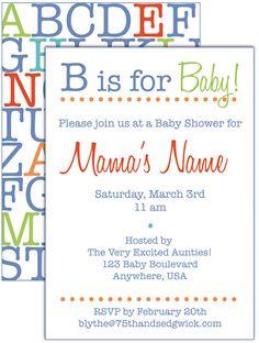 Alphabet / ABC baby shower