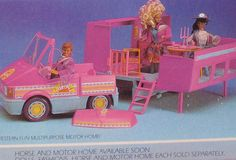 I always remembered thinking that the Barbie who lived in a motor-home would not have a classy candelabra.