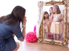 Set up a royal photo booth for your little princesses. #princessparty