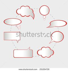 speech bubbles vector illustration. icon of conversation - stock vector