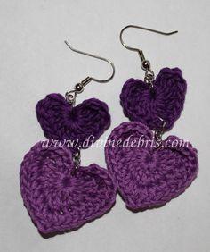 crochet earring patterns | crochet, crochet earrings, crochet jewelry, jewelry, hearts, thread ...