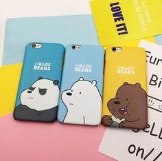 We Bare Bears Grizzly Panda Ice Bear Phone Case Cover For iPhone Iphone 5s Covers, Iphone Phone Cases, Bff, We Bear, Bear Wallpaper, Phone Stickers, We Bare Bears, Bear Art, Cute Phone Cases