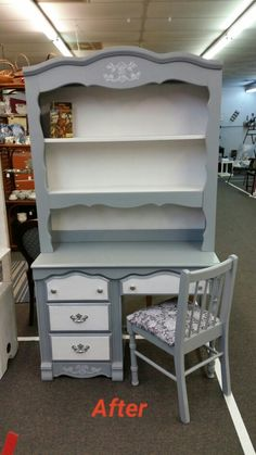 Beautiful desk Bookcase combo just been refurbished. . Sold