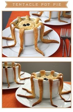 How fun! a potpie that looks like an octopus!!