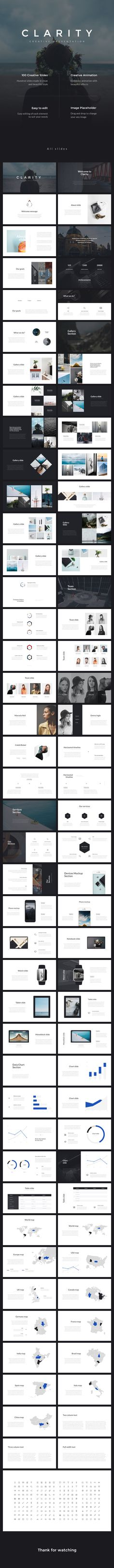 Clarity PowerPoint Presentation Template