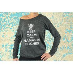 Cute & Unique Yoga Wear. Keep Calm and Namaste by CuteBuffy