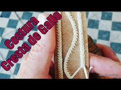 """Costura Cresta de Gallo o Trenza de Pelo - """"El Rincón del Soguero"""" - YouTube"""