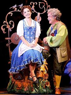 Belle and Maurice #DisneyonBroadway