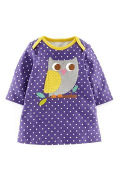Free shipping and returns on Mini Boden Appliqué Jersey Dress (Baby Girls) at Nordstrom.com. An adorable animal appliqué decorates a delightful polka dot dress sewn from soft, pure cotton jersey and finished with bright color-pop trim.