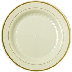 Masterpiece Plastic 6-Inch Plates Ivory W/Gold Rim 15 Per Pack 2015 Amazon Top Rated Dinner Plates #Kitchen  sc 1 st  Pinterest & Kunefe Plate 3 Pcs. Aluminium Silver Tcd 2015 Amazon Top Rated ...