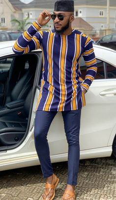 Tevriss African Wear Styles For Men, African Attire For Men, African Clothing For Men, African Shirts, Latest African Fashion Dresses, African Dresses For Women, African Print Fashion, Africa Fashion, Dashiki For Men