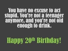 20th birthday wishes and messages : 20th birthday images