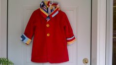 Child's Red Car Coat 3 years C87/15 by zoya49 on Etsy