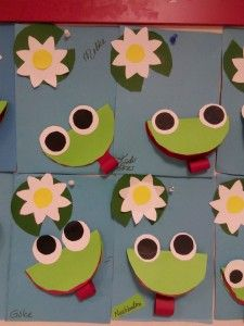 paper frog craft (1) | Crafts and Worksheets for Preschool,Toddler and Kindergarten