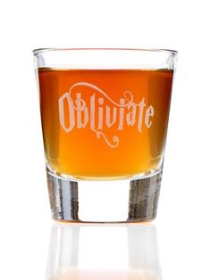 Obliviate Harry Potter Inspired Shot Glass - I don't drink but I do like this