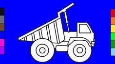 Super monster truck coloring pages | Drawing truck for kids | Learn colo...