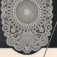 Crocheted Battenberg Lace Doily or Luncheon Mat Pattern