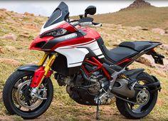 """Race-inspired look and cutting-edge technology combine to create the race-replica Multistrada 1200 Pikes Peak.  #Ducati2016   #multistrada1200   #pikespeak"""